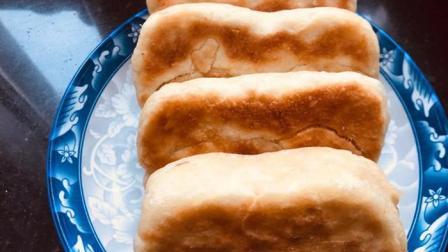 麻酱烧饼这样做, 不用烤箱, 不揉面, 外酥里嫩, 层层酥脆, 真好吃