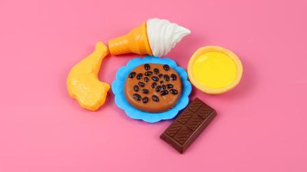 趣味识食物: 学习认识蛋挞、巧克力、鸡腿等五种常见的食物