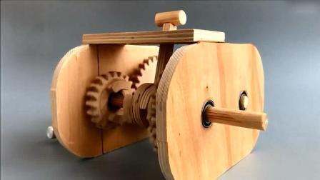 胶合板制作二速变速箱, 工作原理都看明白了!