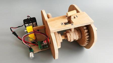 牛人用胶合板制作汽车变速箱模型, 它的工作原理