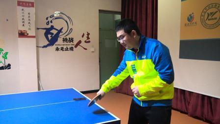 乒乓球长胶磕球的技术动作要领, 含直板、横板动作演示