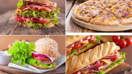 全球美食之旅: 实拍11个超级美味的西餐, 美式牛扒、苹果沙拉、披萨、寿司等