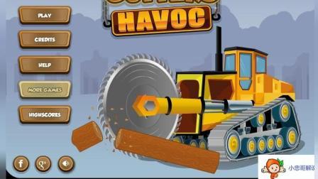 挖掘机工作视频表演大全 挖土机 推土机 吊车 卡车 汽车总动员动画片 木材厂的大卡车
