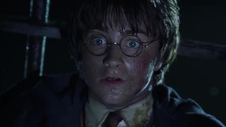 《哈利·波特与密室》福克斯啄瞎大蛇,哈利进下水道巧妙逃脱