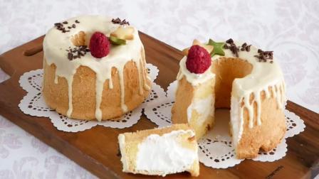蛋糕也走可爱风! ? 美味的白巧克力奶油蛋糕