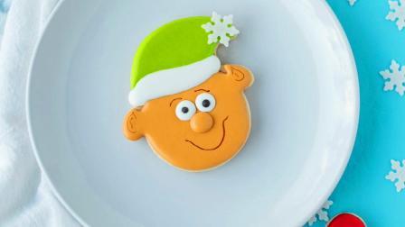 圣诞节最受欢迎的甜品, 可爱的糖霜饼干, 蓝精灵饼干制作