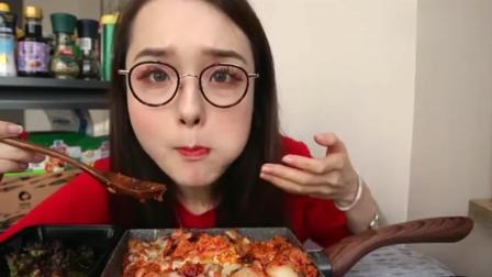 上海美食吃播, 吃芝士五花肉炒饭, 好吃到简直无法形容!