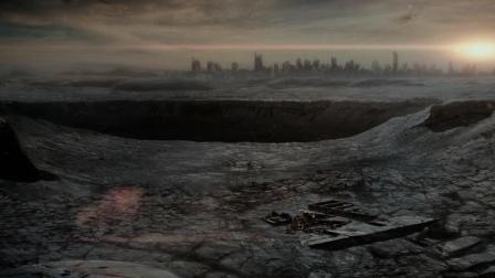 地球遭遇一场灾难, 空气消失, 地面一片狼藉, 人类靠氧气舱生存着!