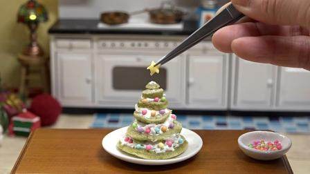 趣味日本食玩, 在微型厨房里制作圣诞树蛋糕, 非常好玩哦