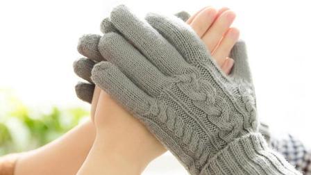 棒针编织十指连心手套成人儿童全指手套编织方法(1)