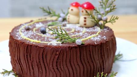 懒人蛋糕简单做法, 教你树桩造型, 30分钟完成, 圣诞节做给家人吃