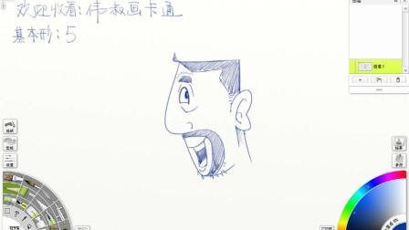 趣味创意卡通简笔画: 5变大叔