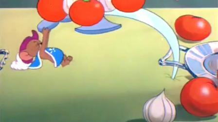 猫和老鼠: 小杰瑞偷吃火腿, 结果被汤姆侍卫逮个正着, 接下来有一场恶战