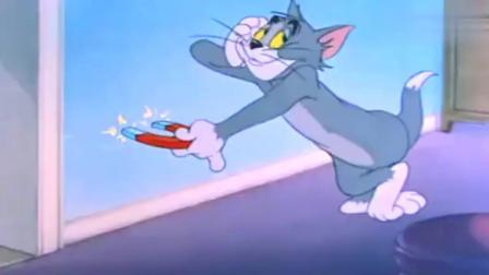 猫和老鼠: 汤姆杰瑞在门外, 它俩想了这个办法整黄猫, 结果黄猫被它俩整惨了