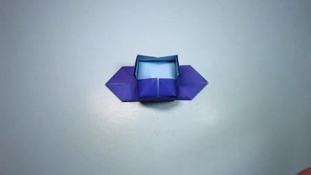 手工折纸, 官帽的折法, 简单的一张纸就能折出来, 一学就会