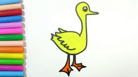 宝宝学画画,简单地几笔画出漂亮可爱的小天鹅,亲子早教