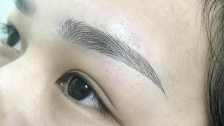 半永久纹绣真人女士线条眉操作完整版