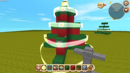 迷你世界: 制作新版圣诞树教程, 据说会有圣诞老人出现, 能有礼物