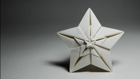 教你折纸闪耀新星, 造型很有风格, 做圣诞树的装饰正合适!