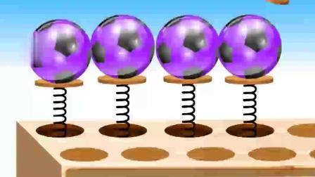 玩积木玩具数一数彩色的足球玩具 动画片