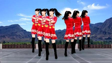 广场舞《北京的金山上》经典老歌, 好听又好看