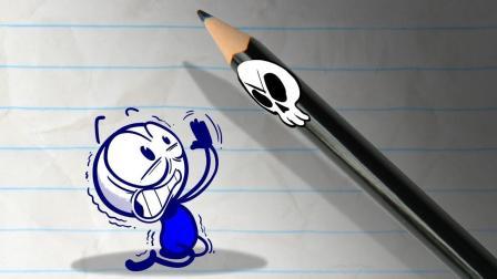 创意铅笔动画: 死神来了, 铅笔人要怎么办?
