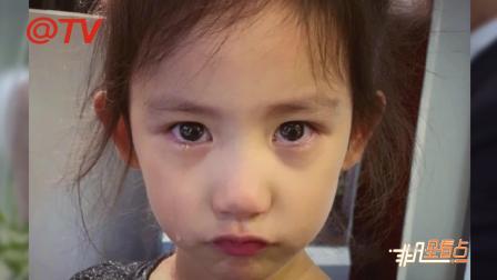 黄磊调侃女儿一拍照就不哭 多妹双目含泪撅小嘴