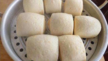 一半玉米面一半面粉, 做双色花卷馒头, 粗粮细作, 健康营养还简单