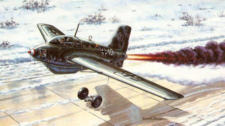 德国把火箭装在飞机上, 携带腐蚀性燃料, 把人发射升空拦截轰炸机