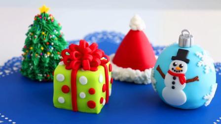 圣诞树、圣诞礼物、圣诞帽、圣诞彩球迷你蛋糕, 颜值高又美味, 简单易做