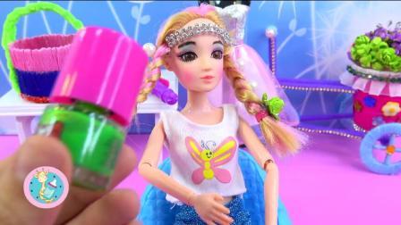 益智乐园给小女孩化妆换衣裙学习艺术设计儿童早教
