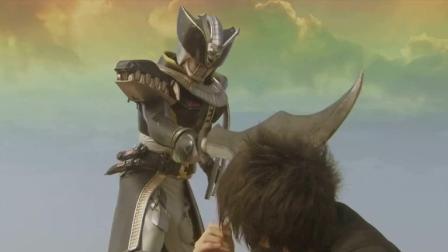假面骑士电王: 差点就砍死自己的孙子! BOSS的陀螺还是很猛的!