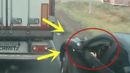 黑色轿车路上进行强行加塞, 自己的错居然还能够这么嚣张