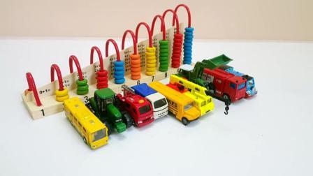 幼儿益智玩具, 儿童汽车玩具木制计数工具学习数字和车辆名称