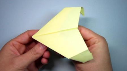 手工折纸飞机, 这种折法简单像老鹰一样的纸飞机, 你会吗?