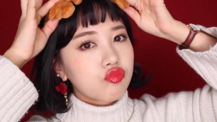 寒冬来袭, 美妆达人教你画一款红唇妆, 少女又高级!