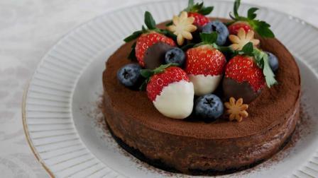 自制烤巧克力芝士蛋糕, 香浓醇厚的美味甜点