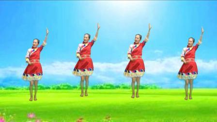 民族风健身广场舞《八百里洞庭我的家》豪迈大气, 歌声嘹亮, 简单好看