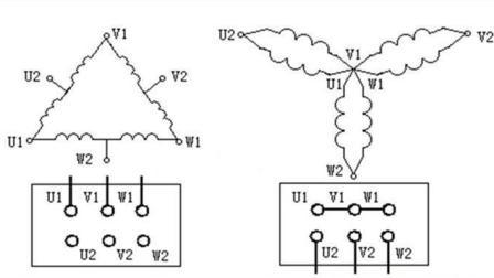 三相双速电机6个接线柱怎么接线? 了解星接和角接很重要