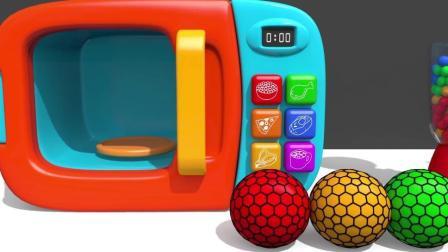 宝宝学颜色,各种彩色的小球,小动物瓶子,亲子早教