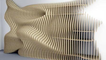 SketchUp如何建一个异形曲面景墙