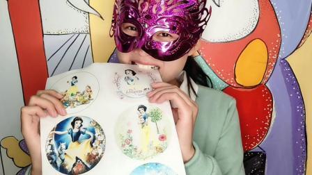 """妹子试吃""""白雪公主糯米纸"""", 好漂亮的卡通图, 一口口吃得好嗨"""