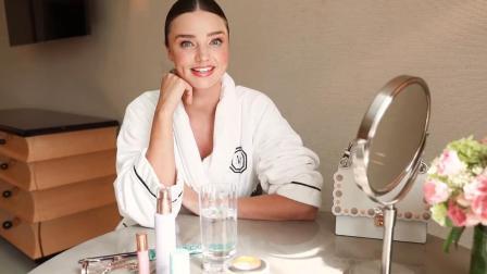 超模米兰达可儿, 介绍她的夜间化妆程序, 难怪可儿皮肤好