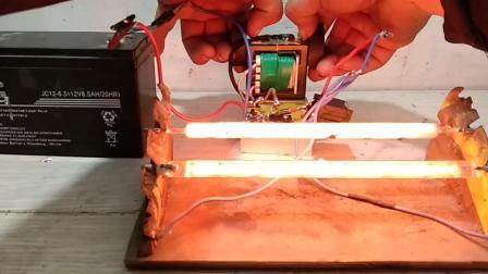 爆白1000W碘钨灯管的永磁升压器
