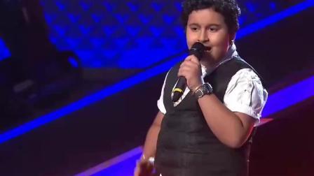 """印度好声音, 让导师全部转身的小男孩, 果然""""胖子都是实力派"""""""
