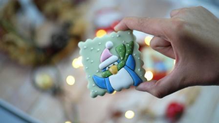 圣诞企鹅糖霜饼干制做过程