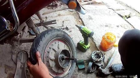 电动车刹车生锈了换刹车片