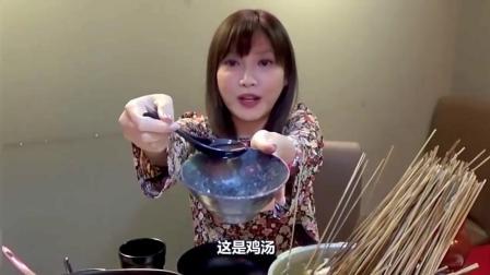 吃播大胃王, 日本美女木下佑香, 吃地道的中国美食! 50个小龙虾300个串串香