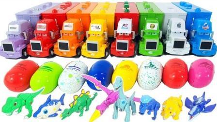展示不同样式的恐龙蛋和小恐龙玩具