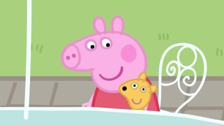 小猪佩奇:佩奇一家喜欢吃山羊叔叔做的比萨